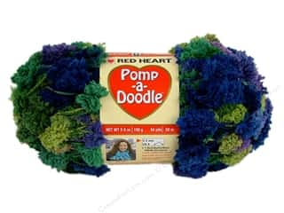 Clearance Red Heart Designer Sport Yarn: Red Heart Pomp-a-Doodle Yarn African Violet 3.5 oz.