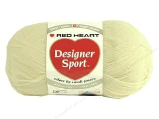 sport yarn: Red Heart Designer Sport Yarn Ivory 3 oz.