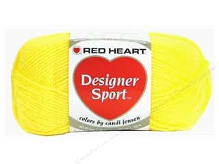 sport yarn: Red Heart Designer Sport Yarn Lemon Zest 3 oz.