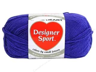 Red Heart Designer Sport Yarn Grape 3 oz.