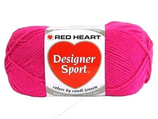 sport yarn: Red Heart Designer Sport Yarn Girlie Pink 3 oz.