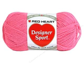 sport yarn: Red Heart Designer Sport Yarn Blush Rose 3 oz.