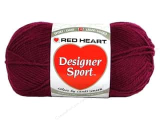 sport yarn: Red Heart Designer Sport Yarn Berry 3 oz.