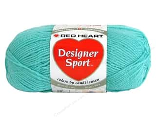 sport yarn: Red Heart Designer Sport Yarn Aqua Ice 3 oz.