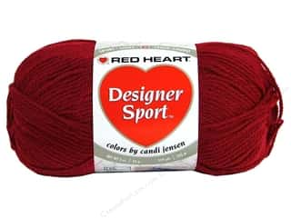 sport yarn: Red Heart Designer Sport Yarn Crimson 3 oz.