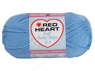 Baby Blue: Red Heart Soft Baby Steps Yarn #9800 Baby Blue 5 oz.