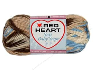 Red Heart Soft Baby Steps Yarn Blue Earth 4 oz.