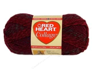 Red Heart Yarn: C&C Red Heart Collage Yarn 3.5oz 218yd Crimson