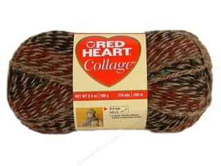 Red Heart Yarn: C&C Red Heart Collage Yarn 3.5oz 218yd WoodTrail