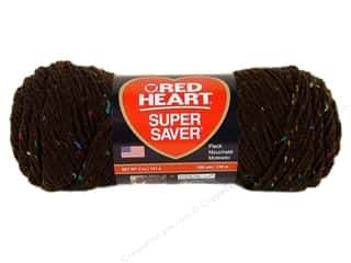 Tea & Coffee Yarn & Needlework: Red Heart Super Saver Yarn #4365 Coffee Fleck 5 oz.