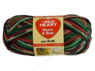 Hearts Yarn: Red Heart Heart & Sole Yarn  #3973 Christmas