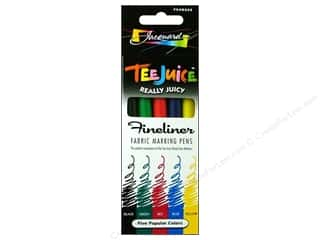 Jacquard Tee Juice Fabric Marker Set Fine 5pc