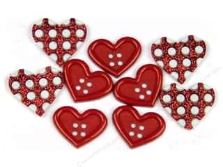 Jesse James Buttons Bulk & Cover Buttons: Jesse James Dress It Up Embellishments Valentine Collection Gift Of Love