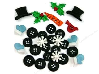 Jesse James Buttons Bulk & Cover Buttons: Jesse James Dress It Up Embellishments Christmas Collection Building a Snowman