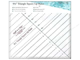 Quilt in a Day: Quilt In A Day Rulers Triangle Square Up 9.5""