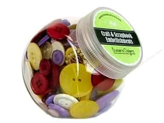 Buttons Galore Button Jar 5oz Wildflower