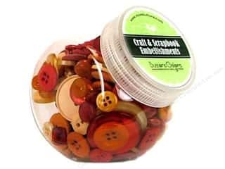 Blumenthal Hand Dyed & Ceramic Buttons: Buttons Galore Button Jar 5.5 oz. Spice