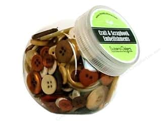 Blumenthal Hand Dyed & Ceramic Buttons: Buttons Galore Button Jar 5.5 oz. Cookie Jar