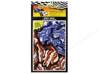 Rub-Ons Pinecar Kits & Accessories: PineCar Body Skin Transfer Freedom Flag
