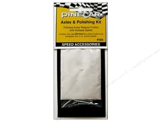 PineCar Speed Accessories Axles &amp; Polish Kit