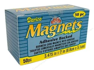 Art, School & Office: Darice Magnet Adhesive Backed Business Card 50pc