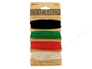 Macrame Black: Darice Cord Hemp Set 20lb 4x30' Primary