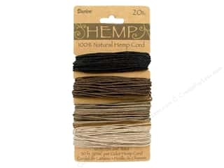 Macrame Black: Darice Cord Hemp Set 20lb 4x30' Earthy