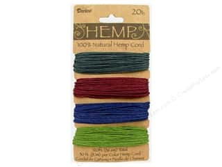 Darice Cord Hemp Set 20lb 4x30&#39; Earthy Pastels