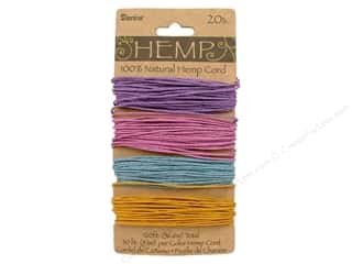 Jewelry Making Supplies Gifts & Giftwrap: Darice Cord Hemp Set 20lb 4x30' Pastels