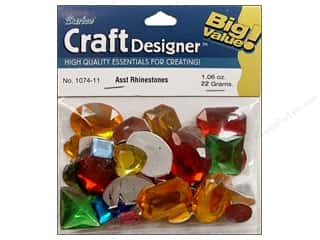 Party Supplies Green: Darice Rhinestone Shaped 30gram Assorted