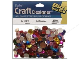 Party Supplies Green: Darice Rhinestone Round 30gram Assorted