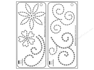 Bazzill jewels: Bazzill Templates Jewel Flowers & Flourishes 2pc