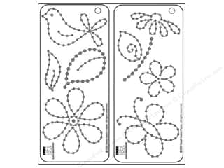 Bazzill templates: Bazzill Templates Jewel Flower Garden 2pc