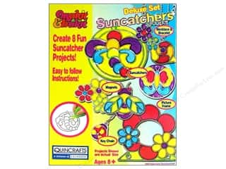 Kid Crafts Flowers: Colorbok Makit & Bakit Suncatcher Kit Set Flowers 8pc