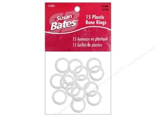 "Bates Luxite Bone Rings 5/8"" 15pc"