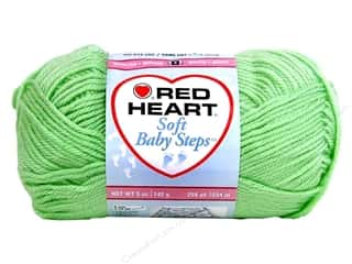 Baby Yarn & Needlework: Red Heart Soft Baby Steps Yarn #9620 Baby Green 5 oz.