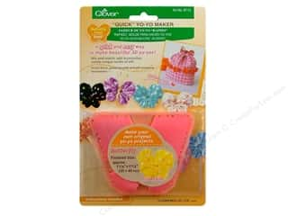 Miscellaneous Sewing Supplies: Clover Quick Yo-Yo Maker Butterfly 1 1/4 x 1 1/2 in. Small