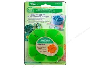 Sewing Construction St. Patrick's Day: Clover Quick Yo-Yo Maker Shamrock 1 1/4 in. Small