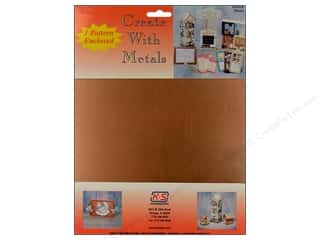 "Metal & Tin K&S Bendable Metal: K&S Punch Metal Copper Sheet 8""x 10"""