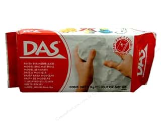 Kids Crafts Clay & Modeling: DAS Air-Hardening Clay 2.2lb White