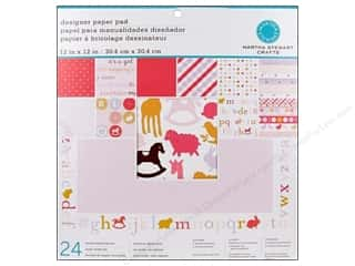 Martha Stewart Paper Pad 12x12 Baby Girl