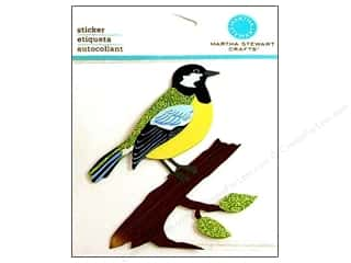 Martha Stewart Sticker Green Bird/Branch