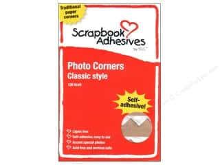 3L Scrapbook Adhesives Photo Corners Paper 126pc Kraft