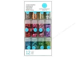 Martha Stewart Glitter Vintage Leaf 12pk