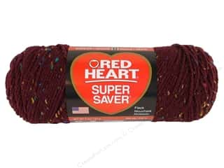Red Heart Super Saver Yarn #4378 Claret Fleck 5 oz.
