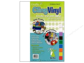 "Grafix Cling Vinyl Sheet 9""x 12"" White 6pc"
