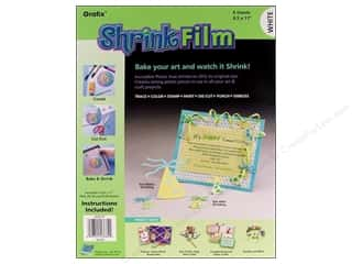 "Grafix Shrink Film 8.5""x 11"" 6pc White"