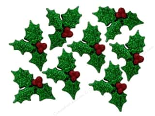 Holiday Sale Jesse James Embellishments: Jesse James Embellishments Glitter Holly
