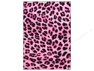 CPE Printed Felt 9&quot;x 12&quot; Cheetah Pink (12 sheets)