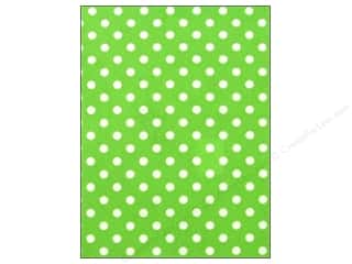 CPE Printed Felt 9&quot;x 12&quot; Polka Dot Lime (12 sheets)
